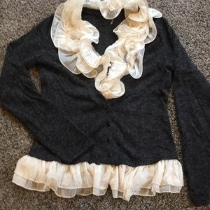 Gorgeous ruffled RYU cardigan medium